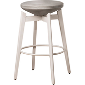 Hillsdale Furniture Genesis Upholstered Backless Swivel Counter Stool