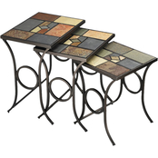 Hillsdale Pompeii Nesting Table 3 pc. Set