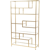 Abbyson Beckett Gold Etagere Shelf