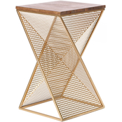 Abbyson Marigold Square End Table