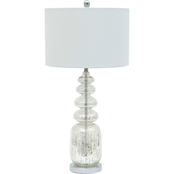 Abbyson Ogden Stacked Mercury Glass Table Lamp