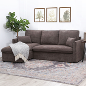 Whitaker Storage Sectional, Brown