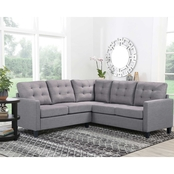 Abbyson Gina Fabric Sectional