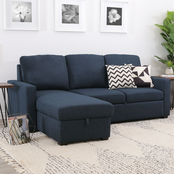 Abbyson Nathaniel Storage Sofa Bed Sectional