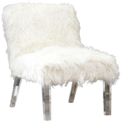 Abbyson Vanessa Fur Accent Chair