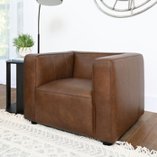 Abbyson Franklin Top Grain Leather Armchair