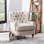 Abbyson Jasper Oversized Tufted Club Chair