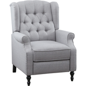 Abbyson Avery Tufted Wingback Pushback Recliner