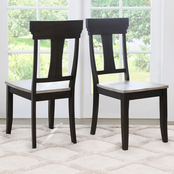 Abbyson Greenwod 2 pc. Farmhouse Dining Chair Set