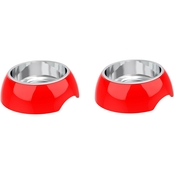 Petmaker Raised Nonslip 2 pc. Set Pet Bowls, 12 oz.