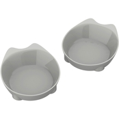 Petmaker Cat Shaped Food and Water Dishes Set of 2