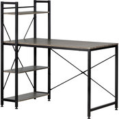 South Shore Evane Industrial Desk with Bookcase