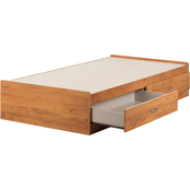 South Shore Logik Mates Twin Bed with 2 Drawers