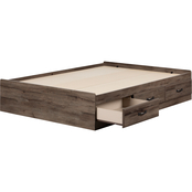 South Shore Ulysses Collection Mates Bed with 3 Drawers