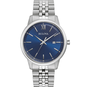 Bulova Men's Classic Stainless Steel Watch 96B334