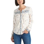 Lucky Brand Printed Knit Shirt