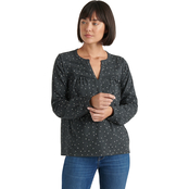 Lucky Brand Heart Print Peasant Top