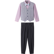 Happy Fella Boys 4 pc. Woven Vest Set