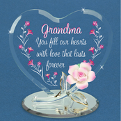 Glass Baron Grandma You Fill Our Hearts Glass Art
