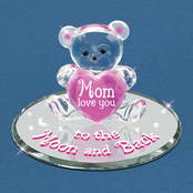 Glass Baron Bear Moon And Back Mom Glass Art