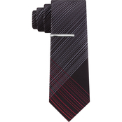 Van Heusen Interupted Lines Plaid Neck Tie