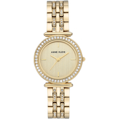 Anne Klein Women's Swarovski Crystal Accented Goldtone Bracelet Watch AK/3408CHGB