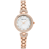 Anne Klein Women's Swarovski Crystal Accented Rose Goldtone Bracelet Watch