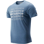 New Balance Heather Tech Graphic Tee