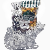 Naper Nuts & Sweets Arctic Ice Popcorn and Candy Christmas Sleigh