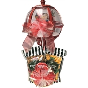 Naper Nuts & Sweets Popcorn and Candy Sweet Santa Musical Snow Globe