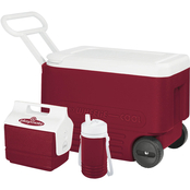 Igloo Wheelie Cooler with Playmate Mini and Legend 1 Quart Beverage Cooler