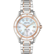 Bulova Women's Marine Star Watch 34mm 98P187