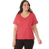 Tommy Hilfiger Plus Size Novelty Stripe Tee