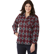 Tommy Hilfiger Plus Size Roll Tab Greek Knot Top