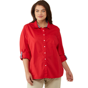 Tommy Hilfiger Plus Size Solid Poplin Top