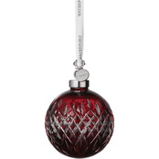 Waterford 3.7 in. Ruby Ball Ornament
