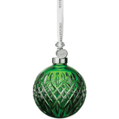 Waterford Emerald Ball Ornament 3.7 in.