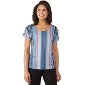 Passports Grommet Loop Shoulder Top