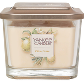 Yankee Candle Elevation Citrus Grove Medium 3 Wick Square Jar Candle