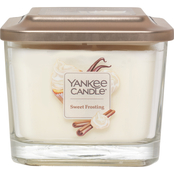 Yankee Candle Elevation Sweet Frosting Medium 3 Wick Square Jar Candle