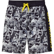 Warner Brothers Little Boys Batman Swim Board Shorts