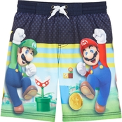 Nintendo Super Mario Luigi Swim Board Shorts