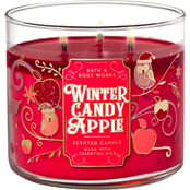 Bath & Body Works Holiday Traditions: 3 Wick Candle Winter Candy Apple