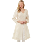 JW Lace Trim Button Front Duster