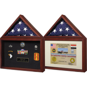 SpartaCraft Capitol Flag Case Shadowbox Frame
