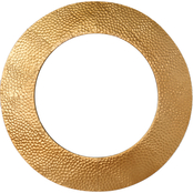 Simply Perfect Hammered Brass Colored Round Mirror 24 in. diam.