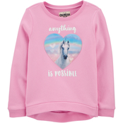 Carter's Girls Unicorn Dreamy Motion Graphic Pullover