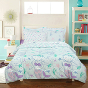 Royale Linens Kidz Mix Mystical Mermaid and Starfish Bed in a Bag