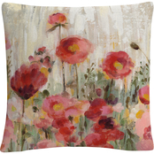 Trademark Fine Art Silvia Vassileva Sprinkled Flowers Decorative Throw Pillow