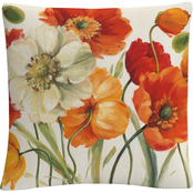 Trademark Fine Art Lisa Audit Poppies Melody I Decorative Throw Pillow